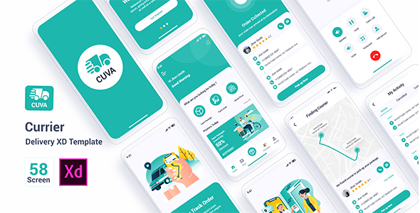 [Free Download] Cuva – Currier Delivery Adobe XD Template (Nulled) [Latest Version]