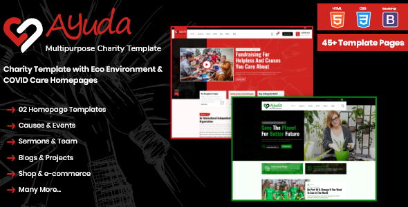 [Free Download] Ayuda   Multipurpose Charity HTML Template (Nulled) [Latest Version]