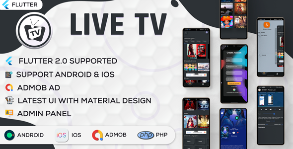 [Free Download] Online Movie and Live TV with Admin Panel | Flutter App | Admob | V1.0 (Nulled) [Latest Version]