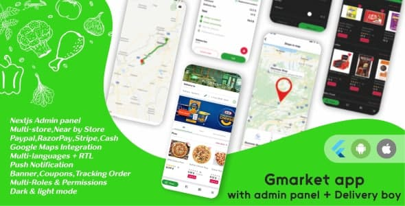 [Free Download] GMarket  Grocery, Pharmacy, Food & Courier Delivery App  Multi-Vendor Marketplace (Next JS Backend) (Nulled) [Latest Version]