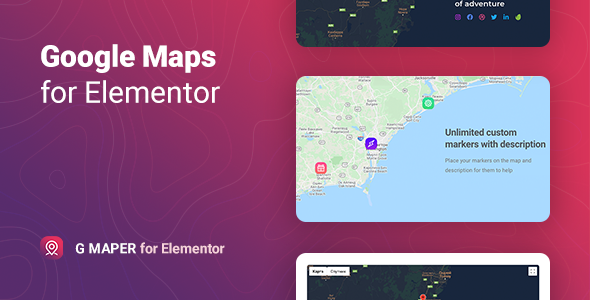 [Free Download] GMaper – Google Maps for Elementor (Nulled) [Latest Version]