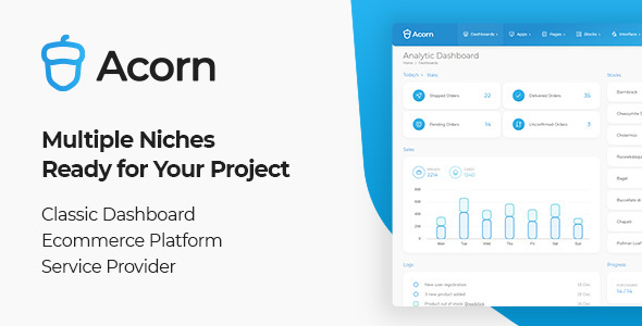 [Free Download] Acorn – Bootstrap 5 Html Laravel .Net Admin Template (Nulled) [Latest Version]