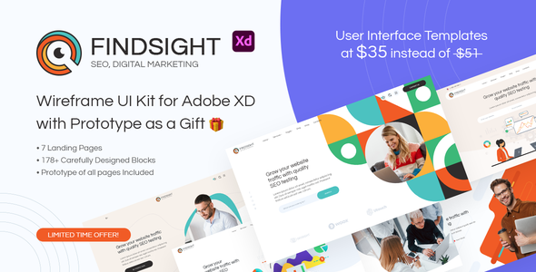 [Free Download] FindSight – Web & Prototype UI Kit for Adobe XD (Nulled) [Latest Version]
