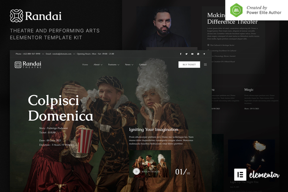 [Free Download] Randai – Theater Entertainment & Performing Arts Elementor Template Kit (Nulled) [Latest Version]