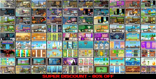 [Free Download] 90 HTML5 GAMES!!! SUPER BUNDLE №5 (Construct 3 | Construct 2 | Capx) (Nulled) [Latest Version]