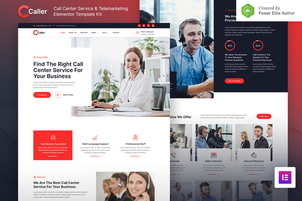 [Free Download] Callerr – Call Center Service & Telemarketing Elementor Template Kit (Nulled) [Latest Version]
