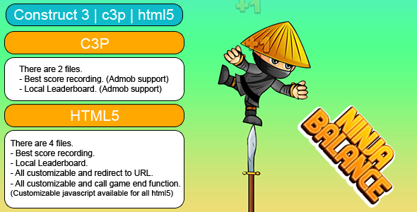 [Free Download] Ninja Balance Game (Construct 3 | C3P | HTML5) Customizable and All Platforms Supported (Nulled) [Latest Version]