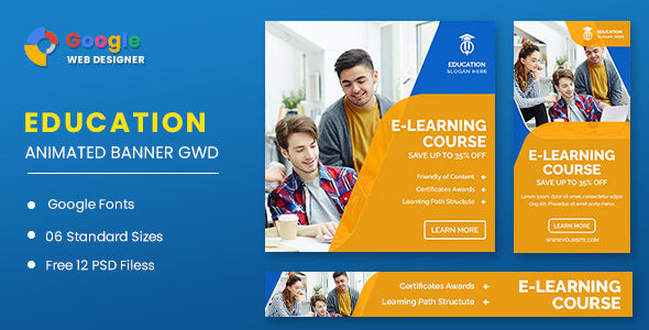 [Free Download] Business Courses Animated Banner GWD (Nulled) [Latest Version]