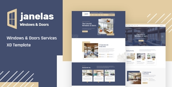 [Free Download] Janelas – Windows & Doors Services XD Template (Nulled) [Latest Version]