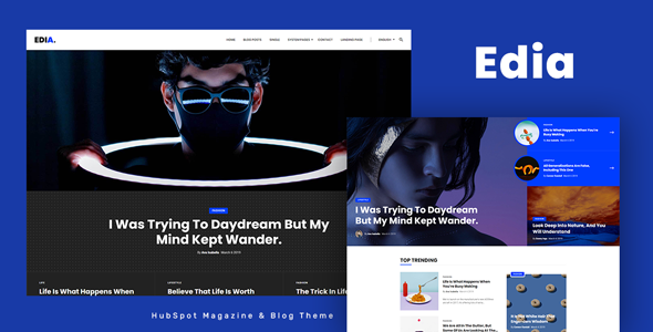 [Free Download] Edia – HubSpot Theme for Magazine and Blog (Nulled) [Latest Version]