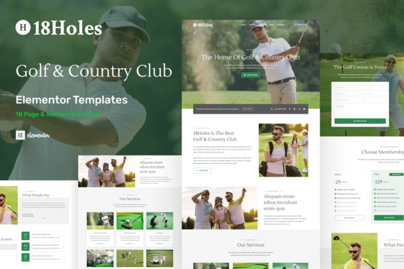 [Free Download] 18Holes – Golf & Country Club Website Elementor Template Kit (Nulled) [Latest Version]