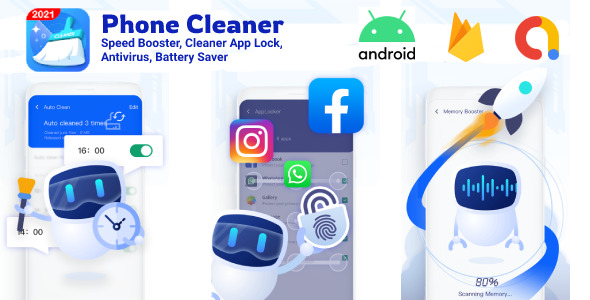 [Free Download] Phone Cleaner- Cache Clean, Android Speed Booster Master, Antivirus, Battery Saver, App Lock Android (Nulled) [Latest Version]