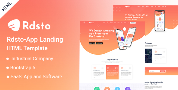 [Free Download] Rdsto – App Landing HTML Template (Nulled) [Latest Version]