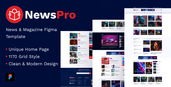 [Free Download] NewsPro – Blog & Magazine Figma Template (Nulled) [Latest Version]