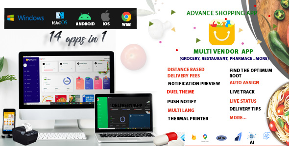 [Free Download] Multi-Vendor – Food, Grocery, Pharmacy & Courier Delivery App |  14 apps (Nulled) [Latest Version]