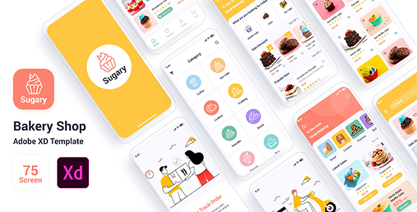 [Free Download] Sugary – Bakery Shop Adobe XD Template (Nulled) [Latest Version]