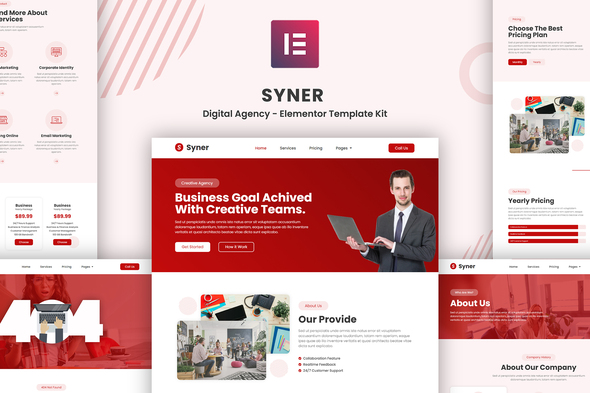 [Free Download] Syner – Creative Agency Elementor Template Kit (Nulled) [Latest Version]