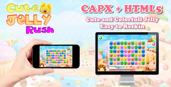 [Free Download] Cute Jelly Rush – Construct 2 Html5 Game (Nulled) [Latest Version]