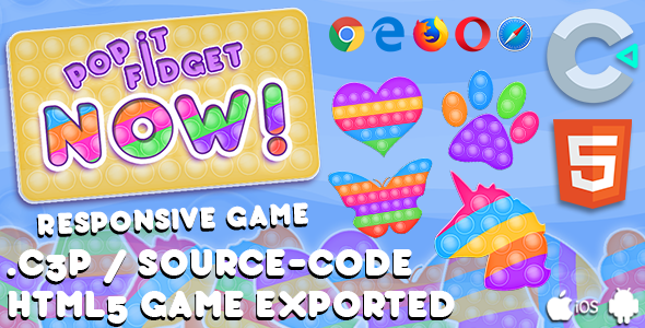 [Free Download] Pop It Fidget NOW HTML5 Game – With Construct 3 All Source-code (Nulled) [Latest Version]