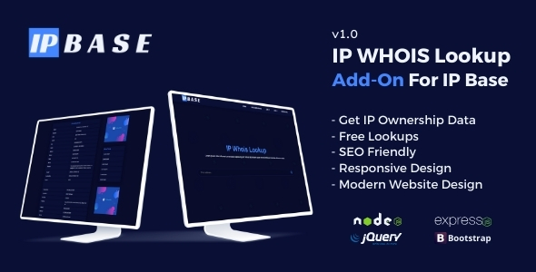 [Free Download] IP Whois Lookup Addon for IP Base (Nulled) [Latest Version]