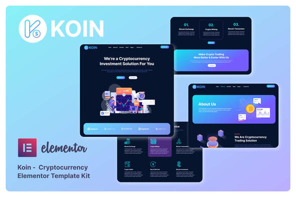 [Free Download] Koin – Cryptocurrency Elementor Template Kit (Nulled) [Latest Version]