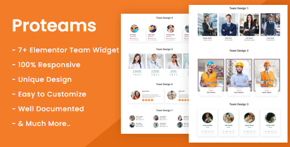 [Free Download] Proteams – Team Member Plugin For Elementor (Nulled) [Latest Version]