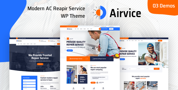 [Free Download] Airvice – AC Repair Services WordPress Theme (Nulled) [Latest Version]