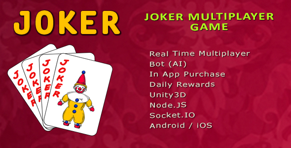 [Free Download] Joker Multiplayer Game – Unity3d | Admob (Nulled) [Latest Version]