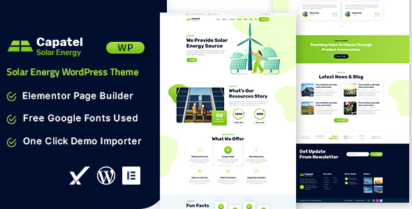 [Free Download] Capatel – Solar Energy WordPress Theme (Nulled) [Latest Version]
