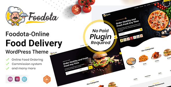 [Free Download] Foodota – Online Food Delivery WordPress Theme (Nulled) [Latest Version]