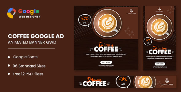 [Free Download] Coffee Drink Animated Banner Google Web Designer (Nulled) [Latest Version]
