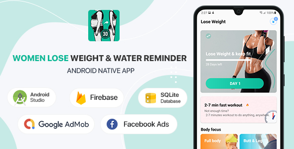 [Free Download] Women Lose Weight & Water Reminder – Android (Kotlin) (Nulled) [Latest Version]