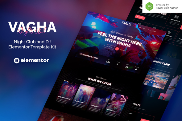 [Free Download] Vagha – Night Club & DJ Elementor Template Kit (Nulled) [Latest Version]