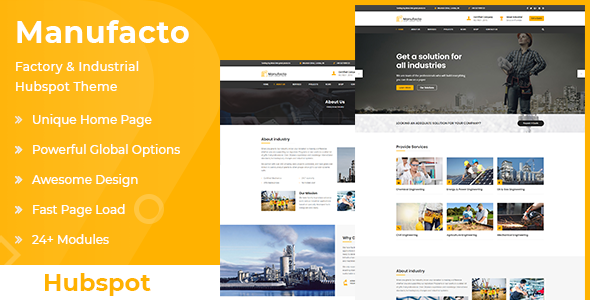 [Free Download] Manufacto | Factory & Industrial Hubspot Theme (Nulled) [Latest Version]