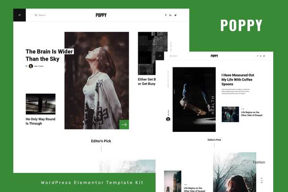 [Free Download] Poppy – Blog & Magazine Elementor Template Kit (Nulled) [Latest Version]