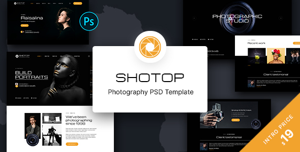 [Free Download] SHOTOP – Photography PSD Template (Nulled) [Latest Version]
