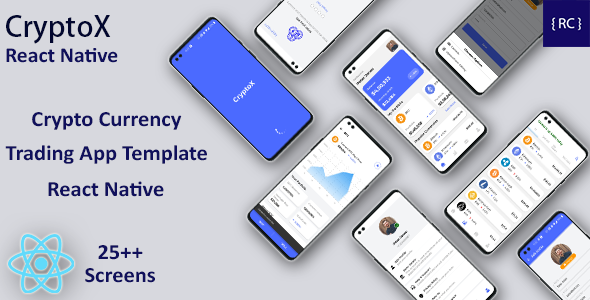 [Free Download] Crypto Currency Trading Android App Template + iOS App Template | React Native | CryptoX (Nulled) [Latest Version]
