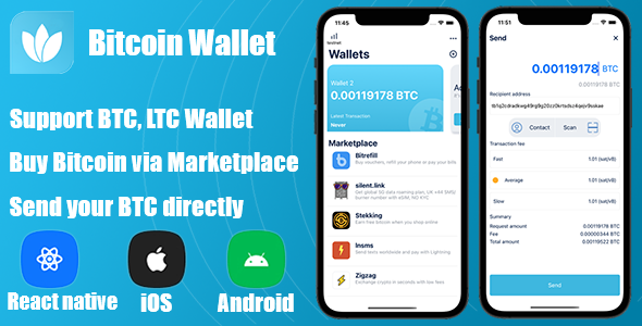 [Free Download] React Native – Bitcoin Wallet (Nulled) [Latest Version]