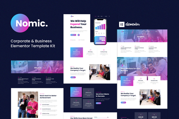 [Free Download] Nomic – Corporate & Business Elementor Template Kit (Nulled) [Latest Version]