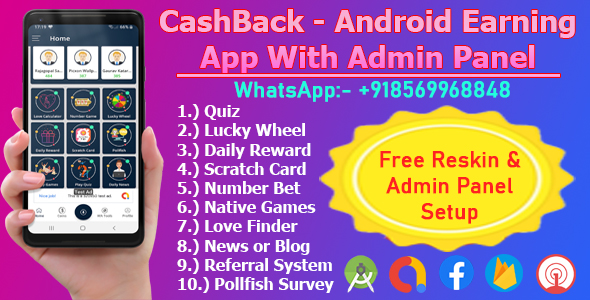 [Free Download] CashBack – Latest Earning App With Admin Panel (Nulled) [Latest Version]