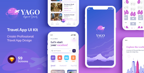 [Free Download] YAGO   Travel App UI Kit for Sketch (Nulled) [Latest Version]
