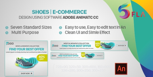 [Free Download] Shoes | E-Commerce HTML5 Banners – Animate CC (Nulled) [Latest Version]