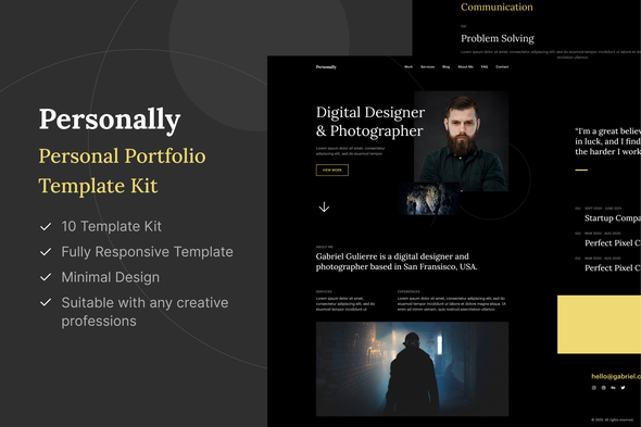 [Free Download] Personally – Personal Portfolio Elementor Template Kit (Nulled) [Latest Version]