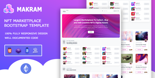 [Free Download] Makram – NFT Marketplace Bootstrap 5 Template (Nulled) [Latest Version]