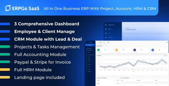 [Free Download] ERPGo SaaS – All In One Business ERP With Project, Account, HRM & CRM (Nulled) [Latest Version]