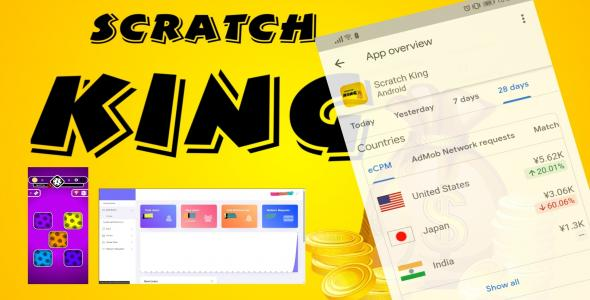 [Free Download] Scratch King – Complete Unity Game (Android, iOS) with Admin Panel (Nulled) [Latest Version]