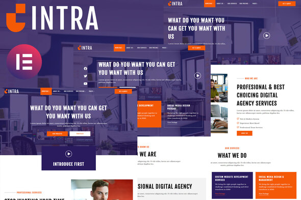[Free Download] Intra – Modern Digital Agency Elementor Template Kit (Nulled) [Latest Version]