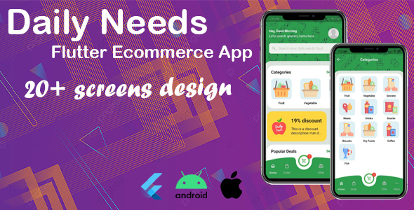 [Free Download] Daily Needs – Flutter eCommerce App template (Nulled) [Latest Version]