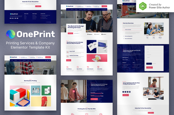 [Free Download] OnePrint – Printing Services Company Elementor Template Kit (Nulled) [Latest Version]