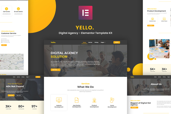 [Free Download] Yello – Digital Agency Elementor Template Kit (Nulled) [Latest Version]